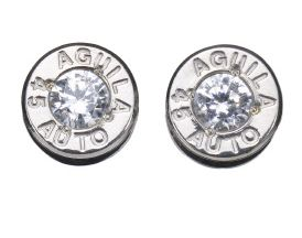 Photo of 0.17MM brass bullet with .357 MAG CZ cap earrings - OMG!!! I want!!