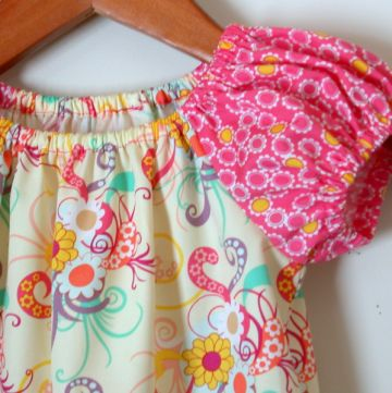DIY KIT sugar peasant dress Size 1T, 2T, OR 3T by littlefishbigpond for $16.00