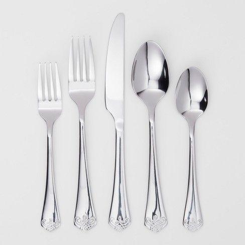 Silverware Set Threshold Silverware Set Silverware Cutlery Set