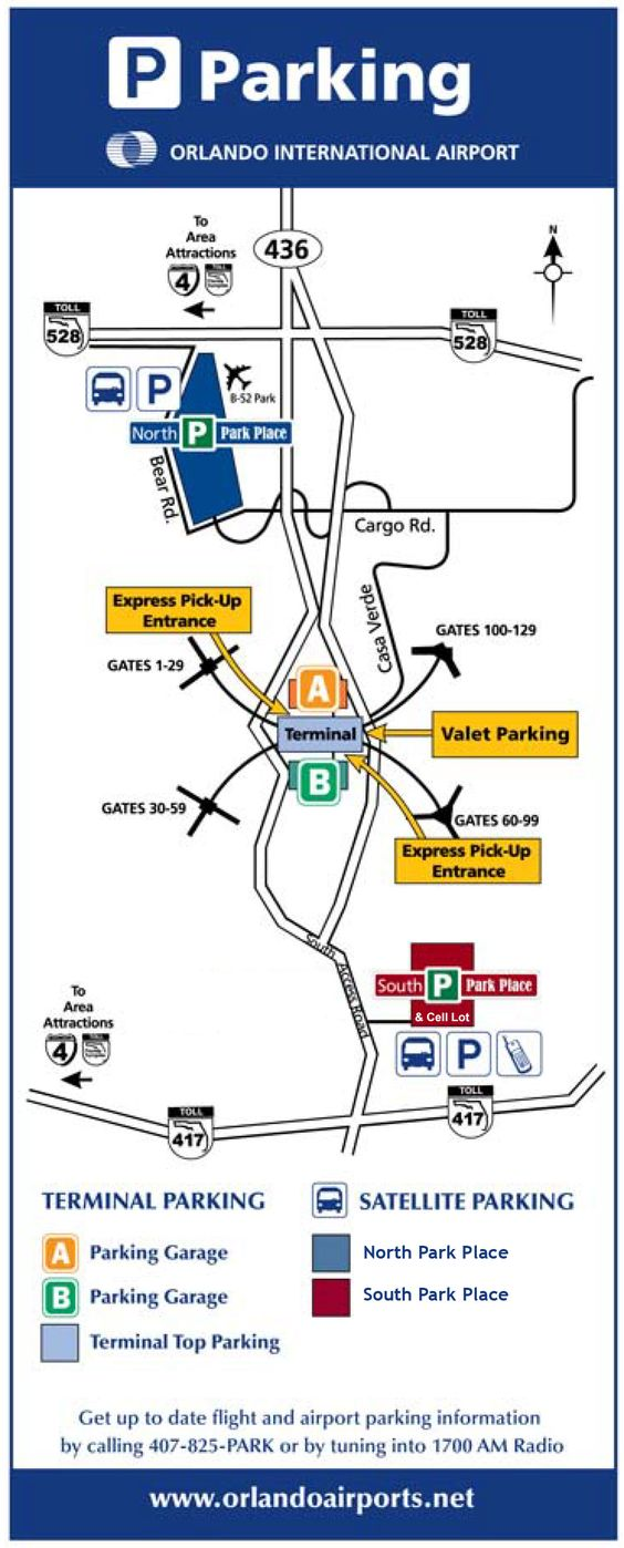 Orlando Airport Map Orlando Airport Orlando Airport Parking Airport Parking