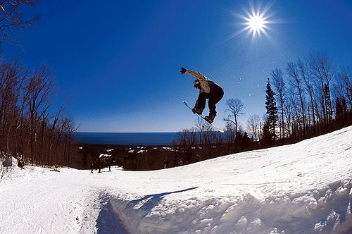 Snowboarding! I'm not as good as they are :-)