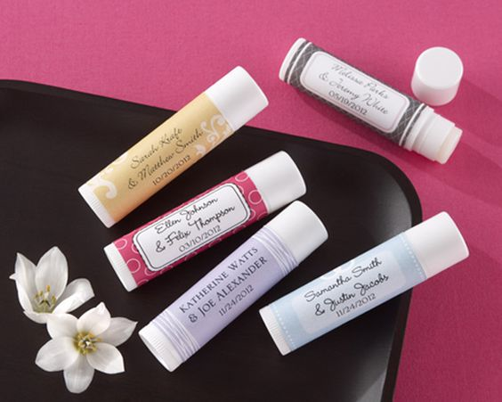 """""""Love & Kisses"""" Personalized Lip Butter Stick (Set of 12) $24.30 set of 12 (favorite things- chapsticks)"""