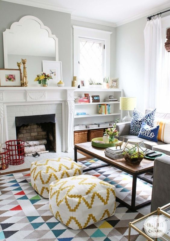 Create The Illusion Of Space With A Small Print Rug