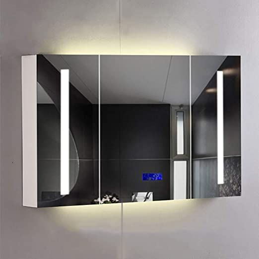 Mirrors Yx Smart Cabinet Anti Fog Defogging Cabinet With Light Bathroom Wall Mounted Sol Mirror Cabinets Wall Mounted Bathroom Cabinets Bathroom Mirror Cabinet