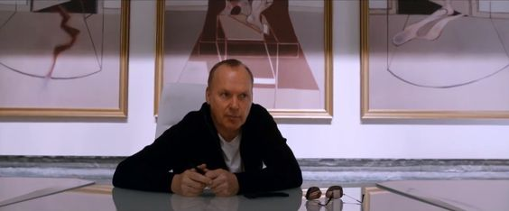 "Michael Keaton from the trailer for the remake of ""Robocop"":  http://www.deadline.com/2013/11/hot-trailer-robocop/"