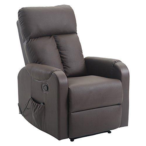Homcom Fauteuil De Massage Relaxation Electrique Chauffant Inclinable 180 Avec Repose Pied Aju Fauteuil De Massage Fauteuil Fauteuil Relax Electrique
