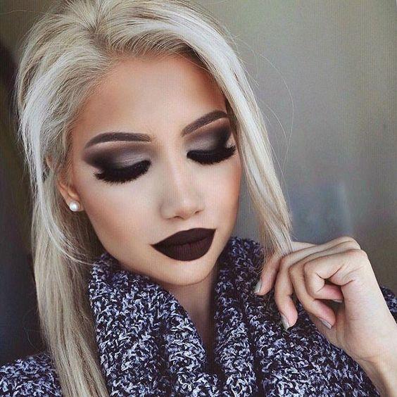 Stunning fall makeup by @makeupbyalinna @shophudabeauty faux mink lashes in Farah ❤️❤️❤️: