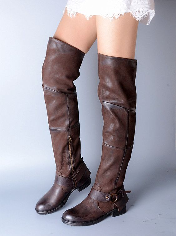 PROVAPERFETTO ITALIAN DESIGN OVER THE KNEE BOOTS LEATHER 1027-15
