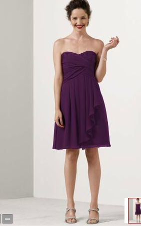 http://www.davidsbridal.com/Product_Short-Crinkle-Chiffon-Dress-with-Front-Cascade-F14847_Bridal-Party-Bridesmaids-All-Bridesmaid-Dresses    $139