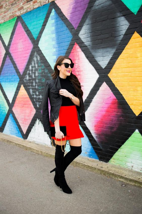 what to wear valentine's day - red skirt valentine's day - red dress valentine's day - fashion blogger valentine's day