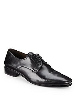 BRUNO MAGLI Martico Leather Cap-Toe Dress Shoes. #brunomagli #shoes #shoes