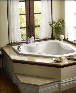Pin By Syerra Wycoff Bagshaw On Future Home Bathtub Decor Corner Tub Tub Remodel