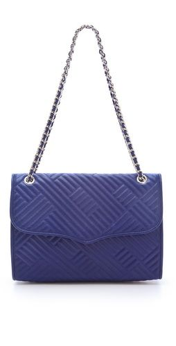Loving the royal blue and texture of this @rebeccaminkoff bag for fall