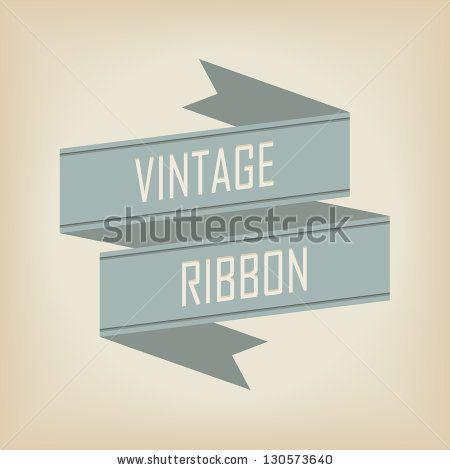 vintage ribbon banner - stock vector