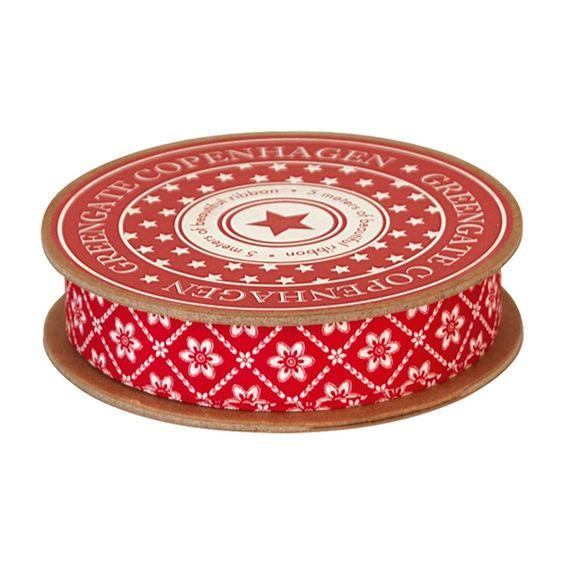 GreenGate Ribbon Alba Red 16 mm x 5 m | NEW! GreenGate Autumn/Winter 2014 | Originated-Shop