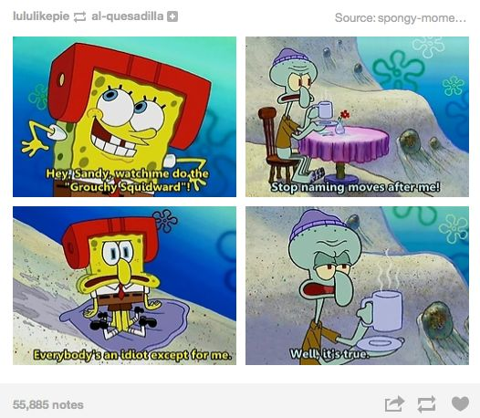 Squidward eating spongebob will
