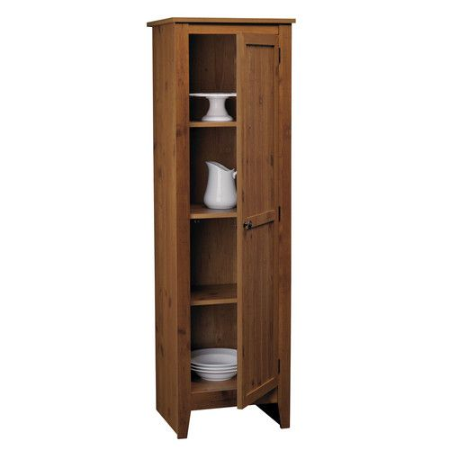 Features: -Top three shelf are adjustable. Finish: -Pine. Primary Material: -Manufactured wood. Shelves Included: -Yes. Doors Included: -Yes. \u2026 | Pinteres\u2026