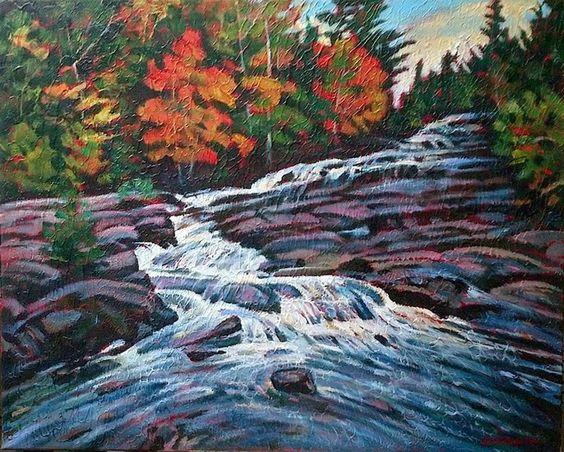 Artwork >> Bellemare Michel-André >> October cascades (Mauricie National Park)