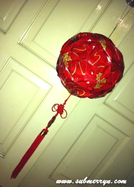 Ang pao ball lantern 1 cny pinterest crafts and lanterns for Ang pao fish tutorial