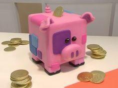 Biscuit Passo a Passo: Porquinho porta moedas de biscuit