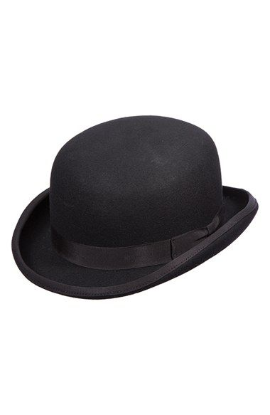 for those that dare to stand out -- embrace your inner Chaplin and don a Scala Wool Felt Bowler Hat