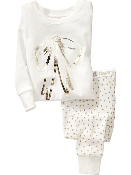 Darling bow graphic pajamas for baby - only $7.50 with code: SAVEMORE http://rstyle.me/~3mImX