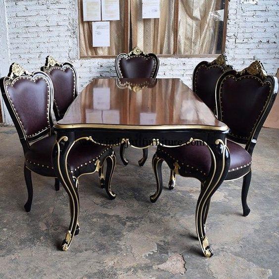 Set kursi makan mewah ukir jepara harga meja makan jati for Kitchen set mewah