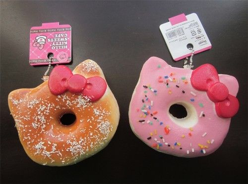 Set of 2 Squishies Kawaii Hello Kitty Shaped Donuts Coconut Sprinkles Squishy | eBay