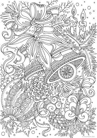 Advanced Collection 10 Coloring Pages Christmas Coloring Sheets Christmas Coloring Pages Adult Coloring Pages