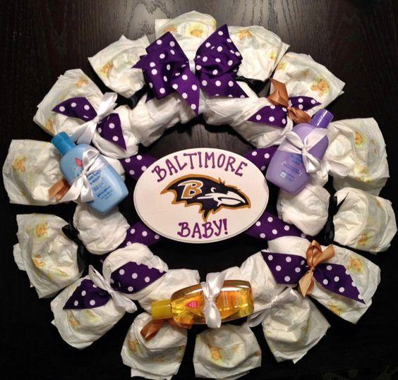 Baltimore Ravens Black Diaper Bag