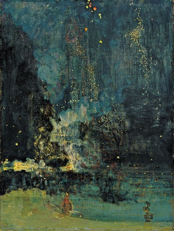 Nocturne in Black and Gold: The Falling Rocket (1875), by James McNeill Whistler