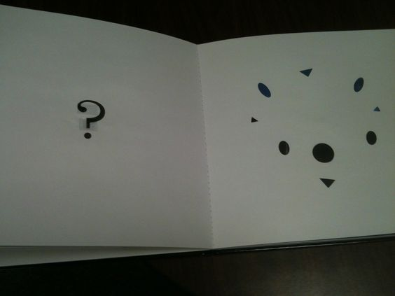 """Book: """"Whoo? Whoo?"""" The shapes are missing- you can feel the holes. Guess the animal (made out of these shapes) hiding on the next page..."""