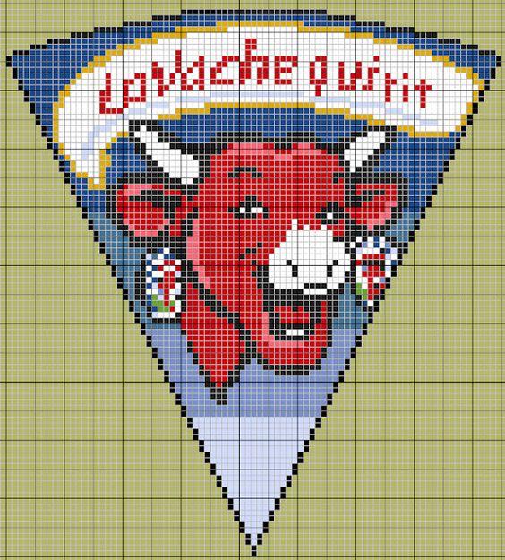 cuisine - kitchen - la vache qui rit - point de croix - cross stitch - Blog : http://broderiemimie44.canalblog.com/