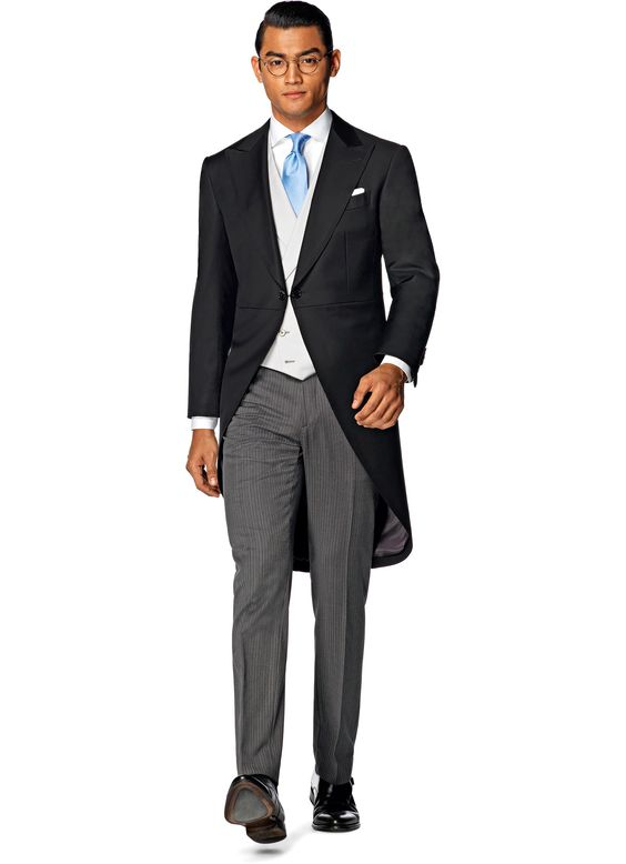 Pak Zwart Uni Morning Coat Jacq006 | Suitsupply Online Store