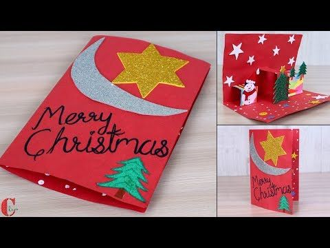 Easy Diy 3d Christmas Pop Up Card How To Make Christmas Tree Card At Home Craft Y Pop Up Christmas Cards How To Make Christmas Tree Diy Christmas Cards