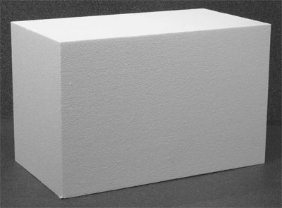 Construction foam block one 12 x 14 x 22 block of for Foam block construction