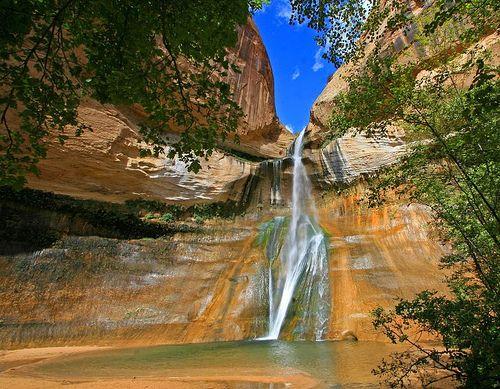 Calf Creek Falls.  Southern Utah.