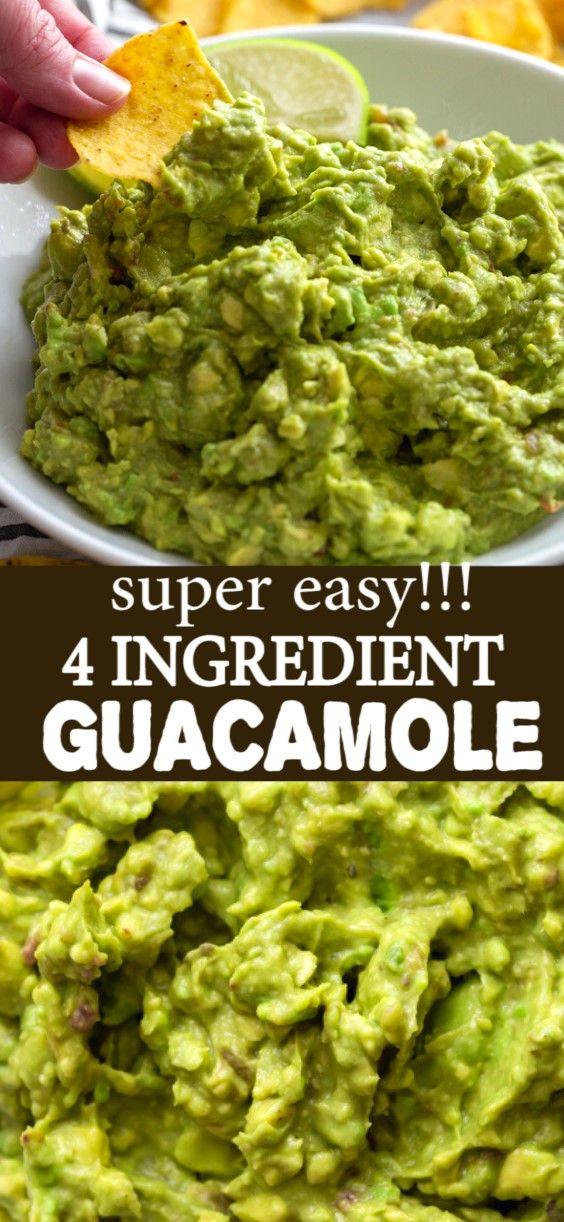 Easy Four Ingredient Guacamole Recipe Guacamole Recipe Easy Best Guacamole Recipe Guacamole Recipe Easy Homemade
