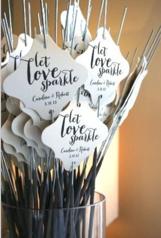 Sparklers as #favors and a great send off of the newlyweds. Pictures will be awesome. #reception
