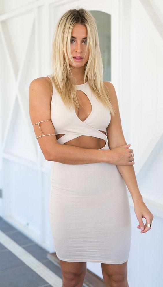 Kylie Dress (nude)