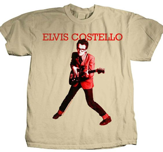 Elvis Costello t shirt retro 80's New Wave Punk rock Oliver's Army Devo tee #Woodstock #GraphicTee
