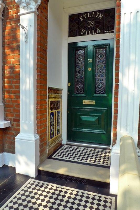 Bull Nose York Stone Mosaic Tile Path Victorian . Victorian DoorVictorian  TerraceVictorian Front ...