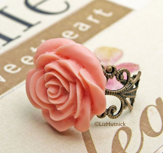 big flower rings