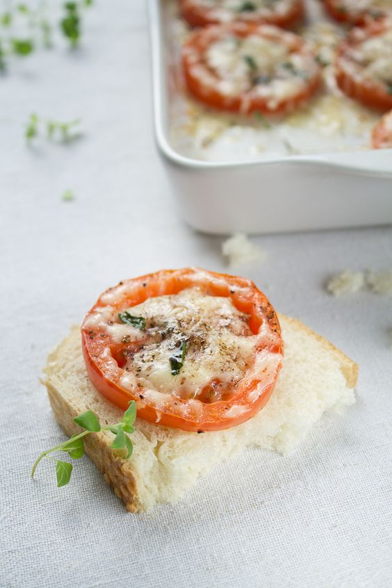 Parmesan, Tomatoes and Healthy vegetarian foods on Pinterest