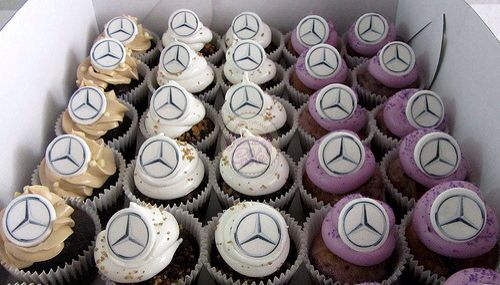 Mercedes benz cupcake and parties on pinterest for Mercedes benz cake design