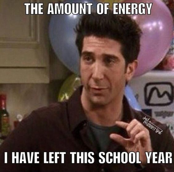 A teacher's face when... he shows you the amount of energy he has left this school year.