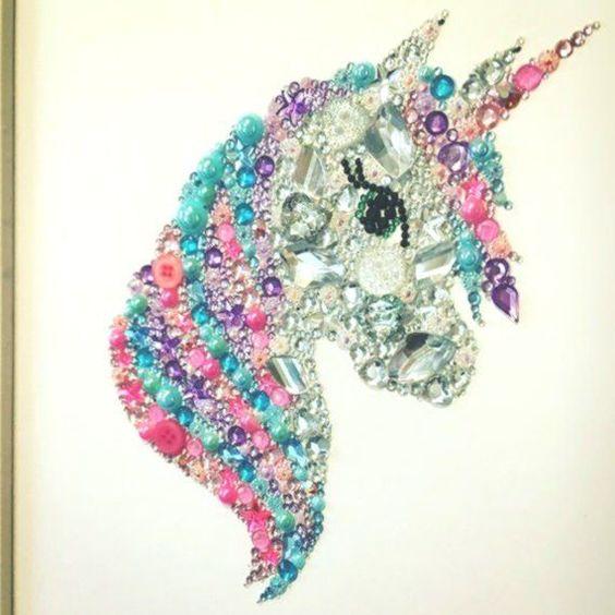 Einhorn Geschenk Einhorn Bild Swarovski Kristallknopf Dekoration Madchen Schlafzimmer Madchen Blog Love Crochet Earrings About Me Blog