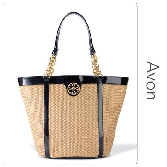 """Avon Signature Tote Perfect for Spring and Summer Brand new in bag Features a magnetic closure, inner zipper pocket, three inner slip pockets and a colorful lining Approx 11 1/2"""" X 18 1/2"""" (at largest point) X 6 3/4"""" Avon Bags Totes"""