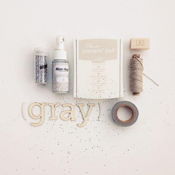 #scrapbooking moodboard - grey
