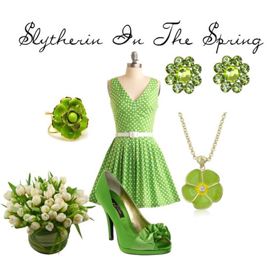 Slytherin In The Spring, created by nearlysamantha on Polyvore